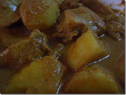 curry X potato X chicken