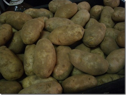 raw Russet potatoes