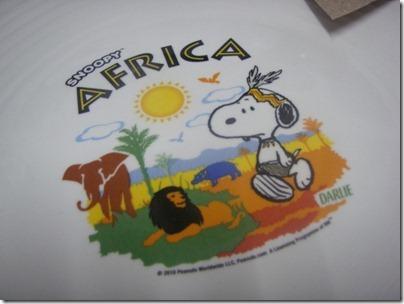 Snoopy X Darlie: Africa (plate)
