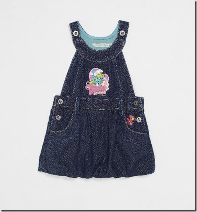 Baby Smurf Print Denim Dress - HKD 259