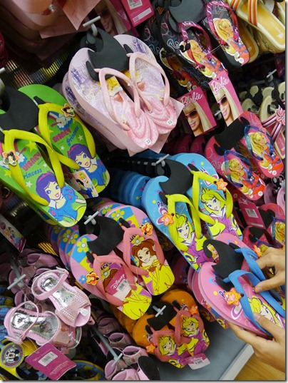 Disney Princesses flip flops