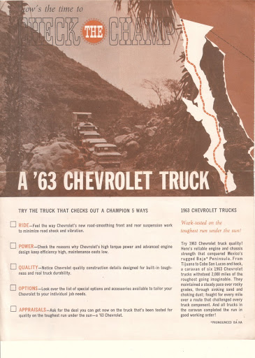 Description et spécifications Chevrolet GMC 1960-1966 Image0-1