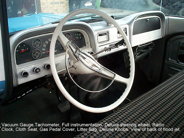 Description et spécifications Chevrolet GMC 1960-1966 DCP00833