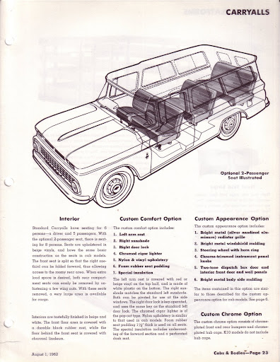 Description et spécifications Chevrolet GMC 1960-1966 Image0-12