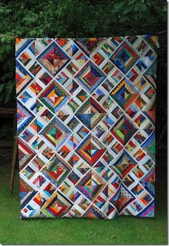 Streifenblockswap Quilt 2