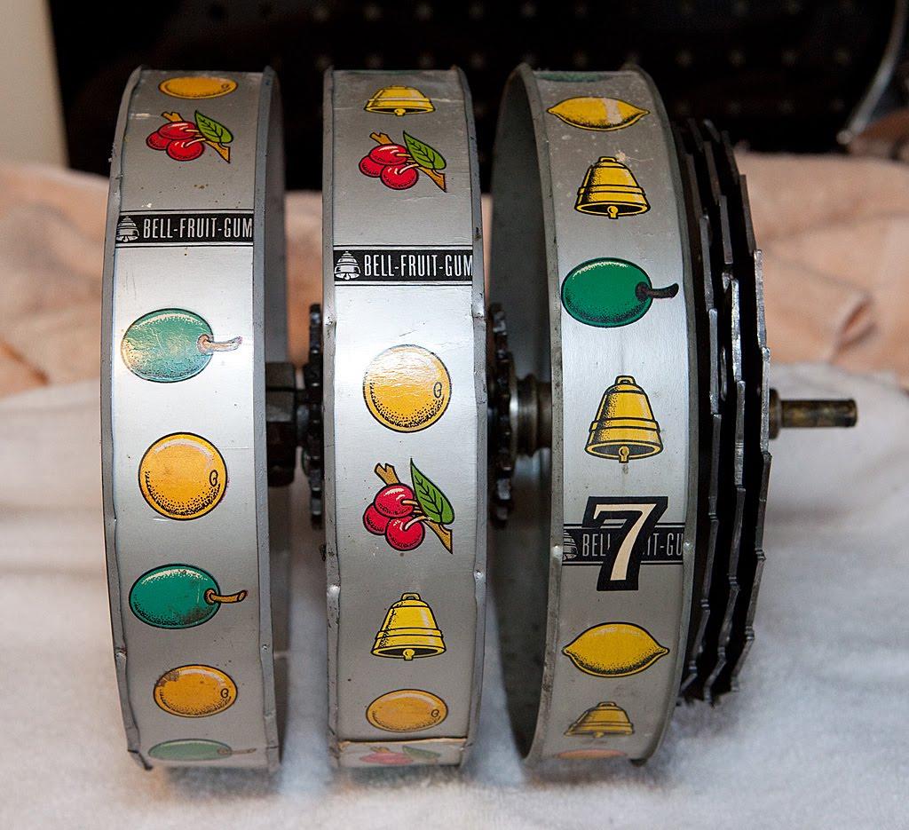 Glue slot machine reel strips