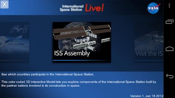 Screenshot of ISSLive
