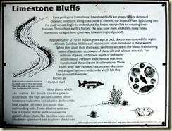 limestone bluffs sign