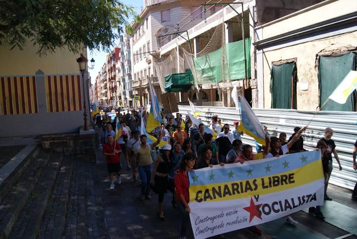 23 de Octubre 2010, Manifestación en Aguere