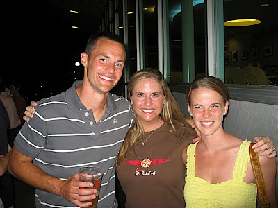Carrie with her cousin Ben and wife Laura