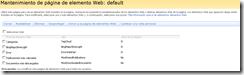 Mantenimiento de página de elementos Web