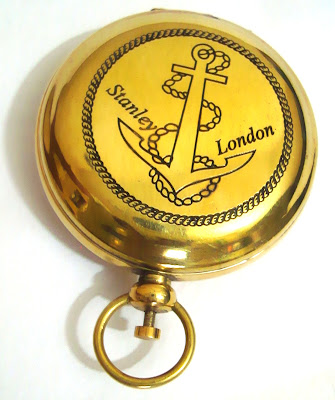 Brass Pocket Compass Brass Push Button Compass