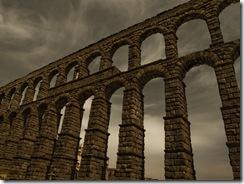 Acueducto de Segovia, quise darle un toque terroso.