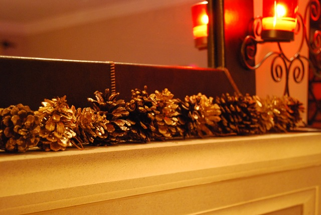 Fireplace pinecones
