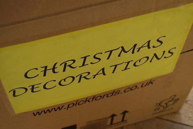 Christmas decs box
