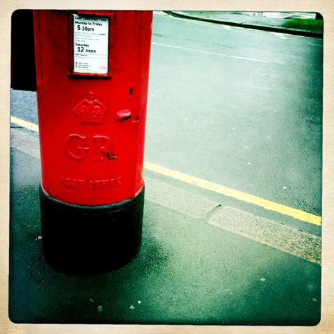 February - a postbox