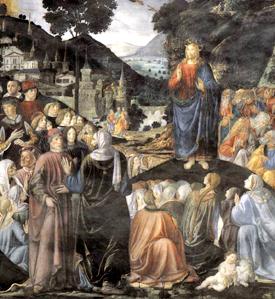 Cosimo Rosselli (1439-1507), Sermón de las bienaventuranzas, Capilla Sixtina, Vaticano