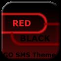 GO SMS Dark Theme Rouge Noir icon