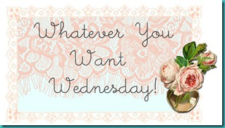 Whatever you want Wednesday hop banner