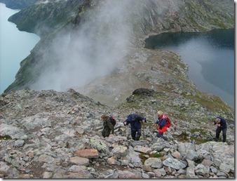 Jotunheimen opp Besseggen utsikt