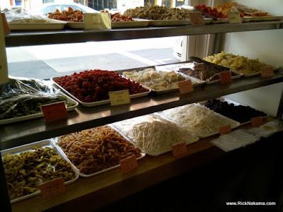 www.RickNakama.com Sing Cheong Yuan Bakery - 1027 Maunakea Street, Chinatown, Honolulu Gao, Candied Fruits, Candied Brittle