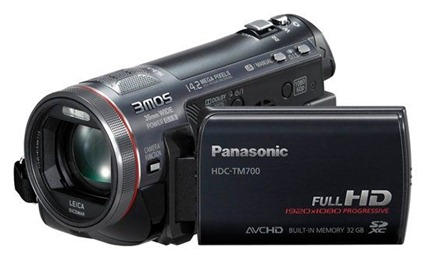 Filmadora Full HD da Panasonic TM700