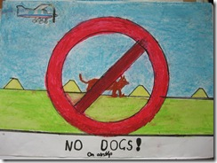 No Dogs on the airstrip... it costs about $40 for the plane to have to miss a landing and 'go around'