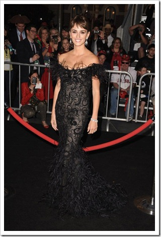 Penelope Cruz Pirates of the Caribbean premier Los Angeles