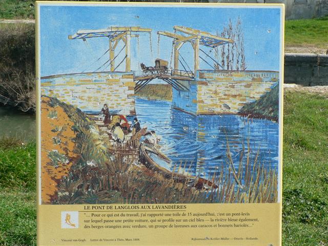 Reproduction of Van Gogh bridge painting