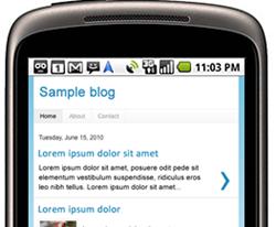 blog mobile