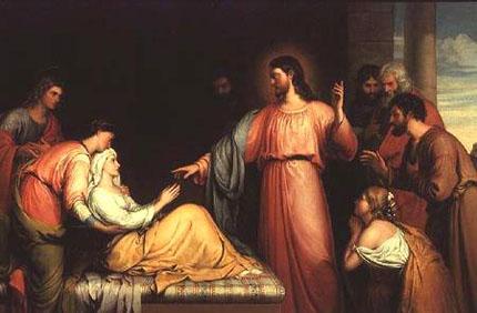 Evangelio 10 de Febrero de 2011 John_Bridges_Christ_healing_the_mother_of_Simon_Peter