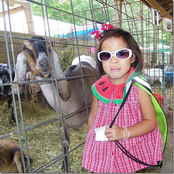 sarah with goats