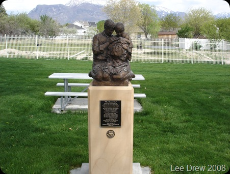 Lehi City Cemetery statue