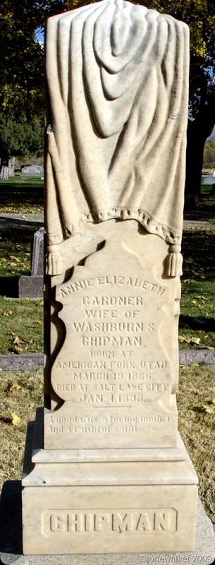 Annie Gardner Chipman tombstone