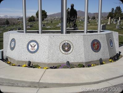 AF Cemetery War Memoral Flags