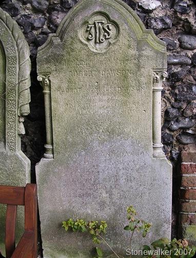 Dawson Joseph Robert Elizabeth headstone