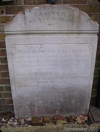 Bradley John Mary Fanny Josiah headstone