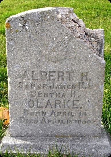 Clarke Albert headstone