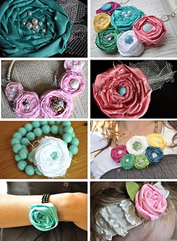 fabric rosette jewelry tutorial