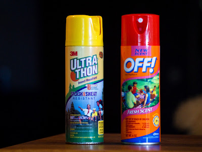Ultrathon and Off! spray repellents