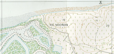 Old map of Noordin beach