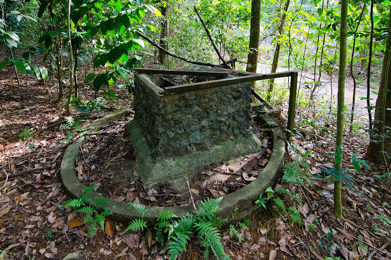 Traditional malay kampung square shaped well