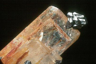 Calcopirita y baritina-Chalcopyrite and baryte