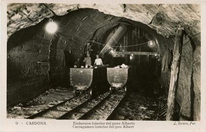 Embarque interior del pozo Alberto, 1930