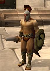 Spartan with sword & shield