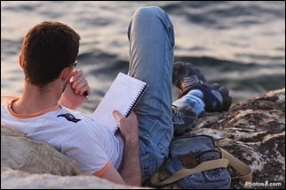 2010.02.28_WritingOnBeach