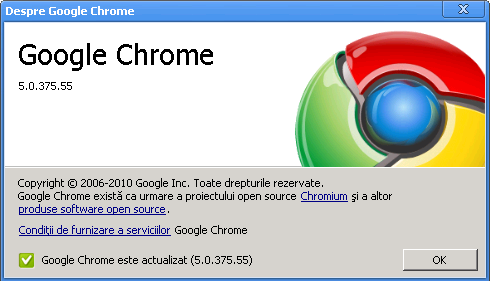 Google Chrome ver 5.0.375.55