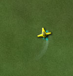My spaceship flying around
