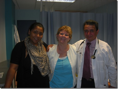 Dr. Marla Groves, Mary and Dr Diaz  after post-op