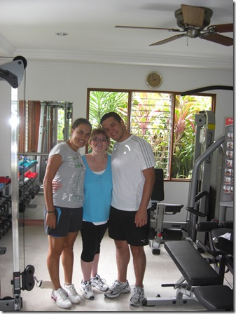 Andrea, Mary and Jose.  Last day of physio